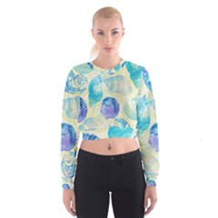 Seashells Women s Cropped Sweatshirt