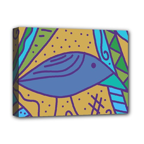 Blue Bird Deluxe Canvas 16  X 12   by Valentinaart