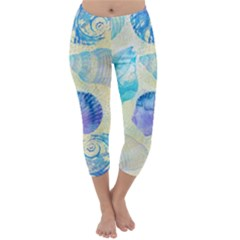 Seashells Capri Winter Leggings