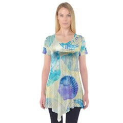 Seashells Short Sleeve Tunic