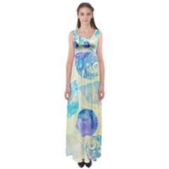 Seashells Empire Waist Maxi Dress by DanaeStudio
