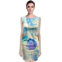 Seashells Classic Sleeveless Midi Dress by DanaeStudio