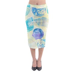 Seashells Midi Pencil Skirt by DanaeStudio