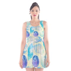 Seashells Scoop Neck Skater Dress
