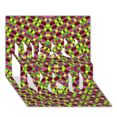 Planet Light Miss You 3d Greeting Card (7x5)