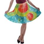 Red Cherries A-line Skater Skirt