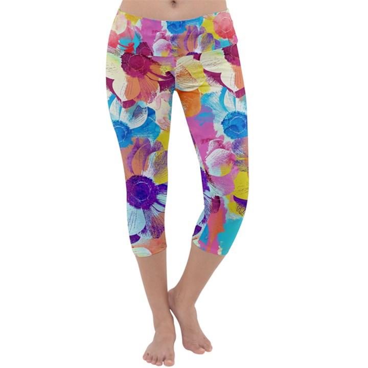 Anemones Capri Yoga Leggings
