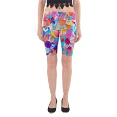 Anemones Yoga Cropped Leggings