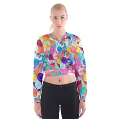 Anemones Women s Cropped Sweatshirt