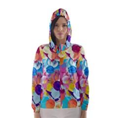 Anemones Hooded Wind Breaker (Women)