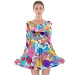 Anemones Long Sleeve Skater Dress