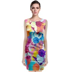 Anemones Classic Sleeveless Midi Dress