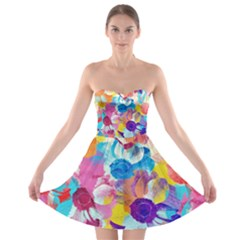 Anemones Strapless Bra Top Dress