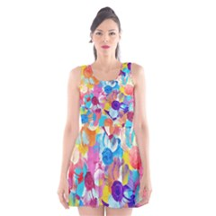 Anemones Scoop Neck Skater Dress