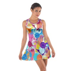 Anemones Cotton Racerback Dress