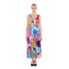 Anemones Sleeveless Maxi Dress