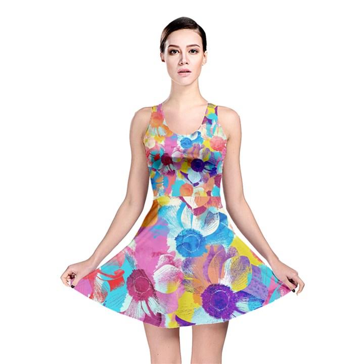 Anemones Reversible Skater Dress