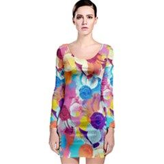 Anemones Long Sleeve Bodycon Dress