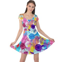 Anemones Cap Sleeve Dress