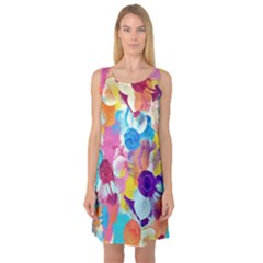 Anemones Sleeveless Satin Nightdress