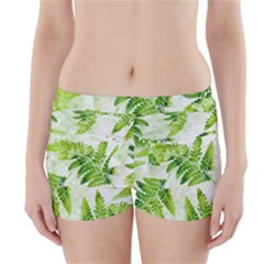 Fern Leaves Boyleg Bikini Wrap Bottoms