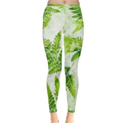 Fern Leaves Winter Leggings