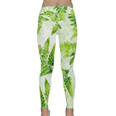 Fern Leaves Yoga Leggings  by DanaeStudio