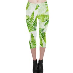 Fern Leaves Capri Leggings