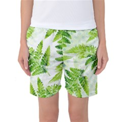 Fern Leaves Women s Basketball Shorts
