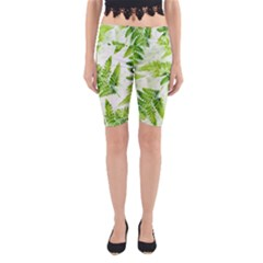 Fern Leaves Yoga Cropped Leggings
