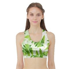 Fern Leaves Sports Bra With Border