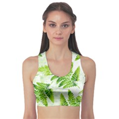 Fern Leaves Sports Bra