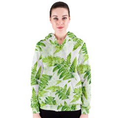 Fern Leaves Women s Zipper Hoodie