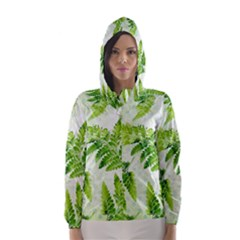Fern Leaves Hooded Wind Breaker (Women)