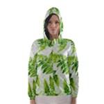 Fern Leaves Hooded Wind Breaker (Women)
