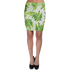 Fern Leaves Bodycon Skirt