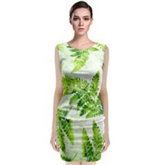 Fern Leaves Classic Sleeveless Midi Dress