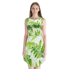 Fern Leaves Sleeveless Chiffon Dress   by DanaeStudio