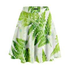 Fern Leaves High Waist Skirt by DanaeStudio
