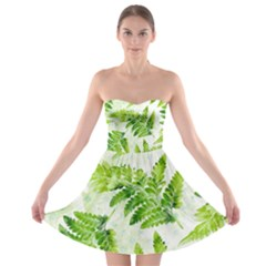 Fern Leaves Strapless Bra Top Dress