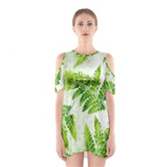 Fern Leaves Women s Cutout Shoulder One Piece