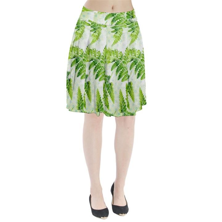 Fern Leaves Pleated Skirt