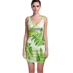 Fern Leaves Bodycon Dress