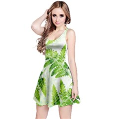 Fern Leaves Reversible Sleeveless Dress