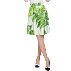 Fern Leaves A Line Skirt