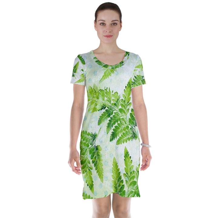 Fern Leaves Short Sleeve Nightdress