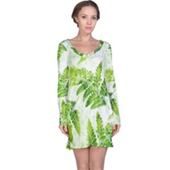 Fern Leaves Long Sleeve Nightdress