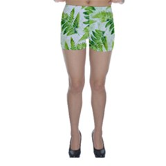 Fern Leaves Skinny Shorts