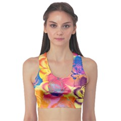 Pop Art Roses Sports Bra