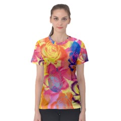 Pop Art Roses Women s Sport Mesh Tee